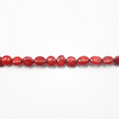 Bamboo mer teinte rouge Baroque Rond Plat