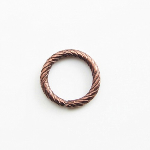 Anneaux ouvert spirale cuivre 10mm x 4pcs