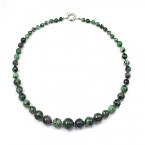 Collier ruby-zoisite