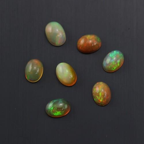 Cabochon opale ethiopian ovale 5x7mm x 1pc