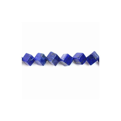 Lapis-lazuli cube 8x6mm x 2pcs