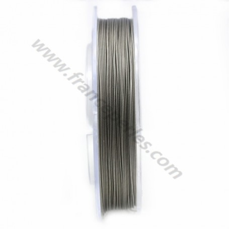 Fil câblé acier 7 brins 0.7mm x 100m