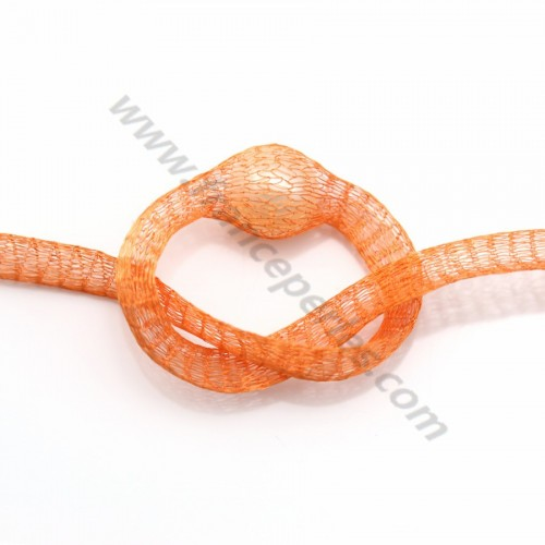 Résille tubulaire 6mm orange  x 91.4cm