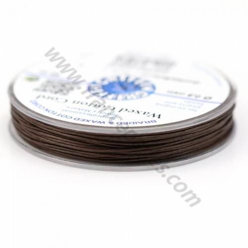 Cordonnet coton ciré brun foncé 0.8mm  x 20m
