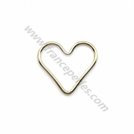 Intercalaire de forme coeur en gold filled 14 carats 15mm x 1pc