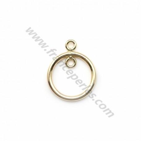 Anneaux pendentif en gold filled 14 carats 11mm x 1pc