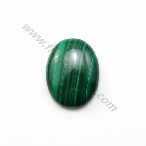 Cabochon Malachite Ovale 15*20mm  x 1pc