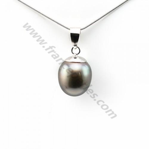Pendentif Perles Tahiti bélière Argent 925 12.5x15mm x 1pc
