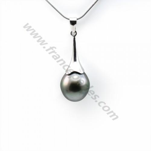 Pendentif Perles Tahiti bélière Argent 925 12x15mm x 1pc