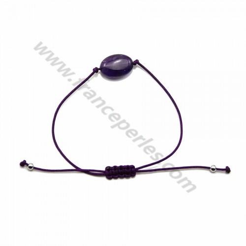 Bracelet cordon Amethyste