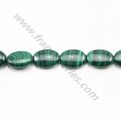 Malachite ovale 8*12mm x 2 pcs