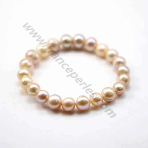 Bracelet  Perle D'eau Douce Châtain