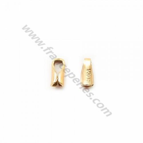 Embout  2.5mm Gold filled 14 carat X 2pcs