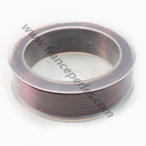 Fil élastique marron 0.5mm X 100m