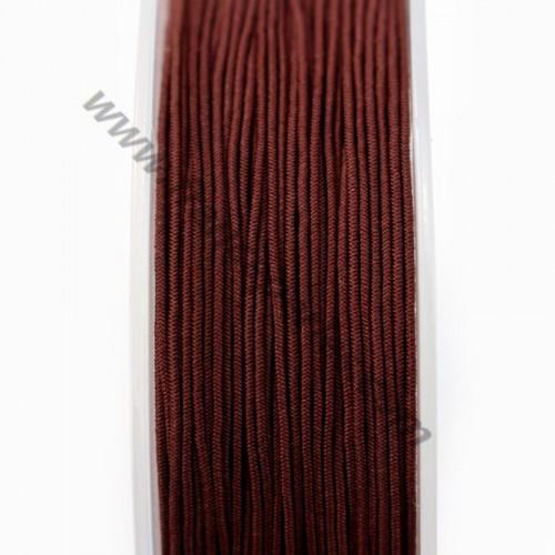 Fil elastique a chapeau MARRON 0.80mm x 5m