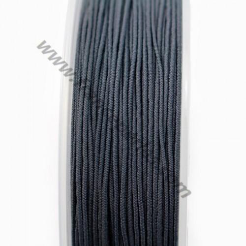 Fil elastique a chapeau grise fonce 0.80mm x 5m