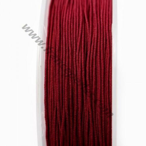 Fil elastique a chapeau BORDEAU  0.80mm x 5m