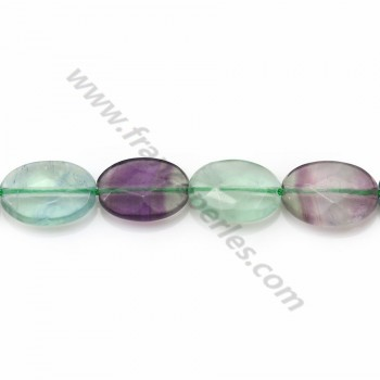 Fluorite Ovale facette 10*14mm X 2 pcs