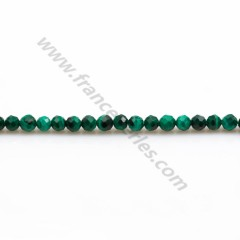 Malachite ronde facette 3mm x 20 pcs