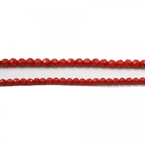 Bamboo mer teinte rouge Rond Facette