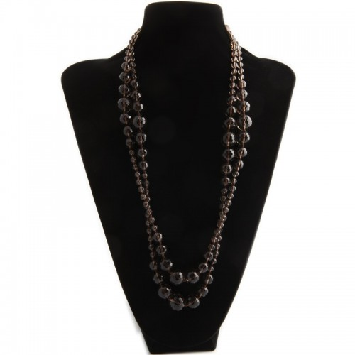 Necklace smoky quartez 140cm