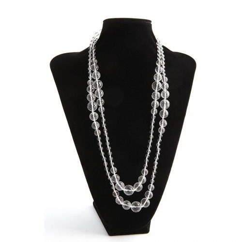 Necklace rock cristal   140cm