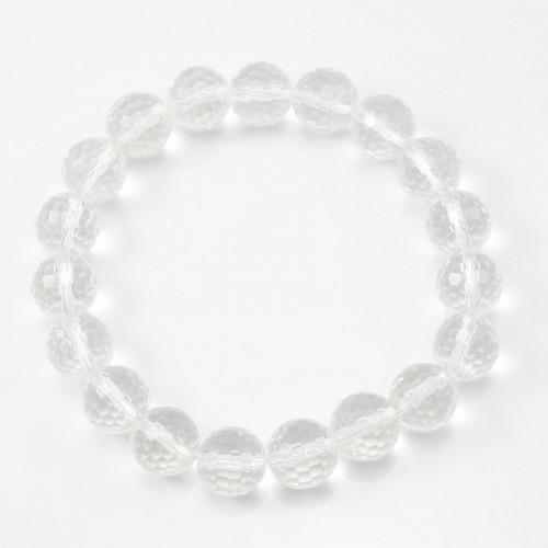 Bracelet cristal de roche round facette