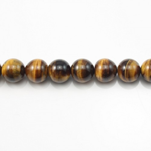 Yellow Tiger Eye Round 14mm x 40cm