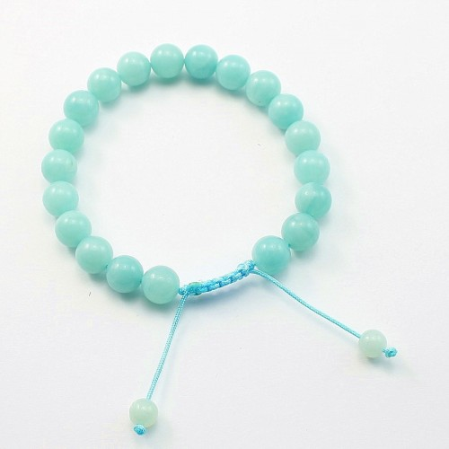 Bracelet Amazonite boule rond 8mm