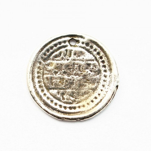 Monaie charm old silver tone 15.5mm x 2 pcs