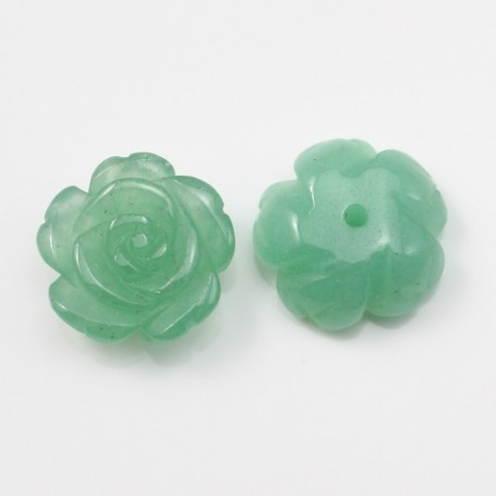Cabochon avanturine  flower 15mm x 1pc