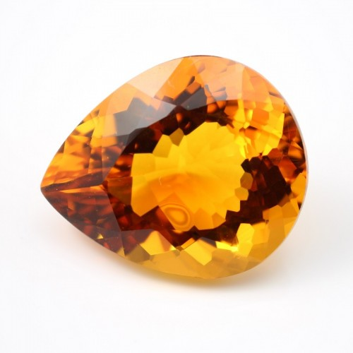 Citrine Poire  38 x 31.5mm 117.37 CTS