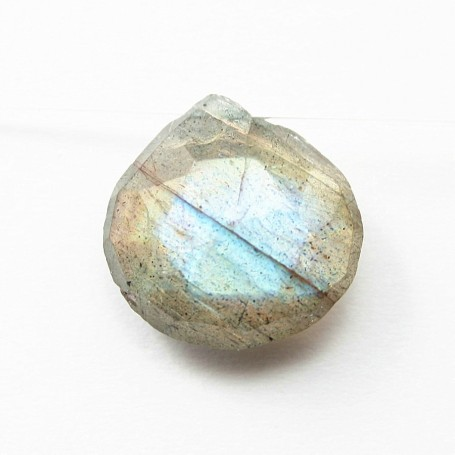 Labradorite  faceted  Flat Teardrop X 1 pc