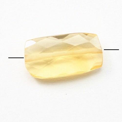 citrine Rectangle Facette 6.5*13mm x 1pc
