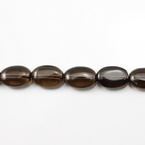 Smoky Quartz Oval 10*14 mm X 40cm