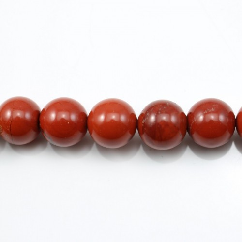 Red Round Jaspe  12mm X 40cm
