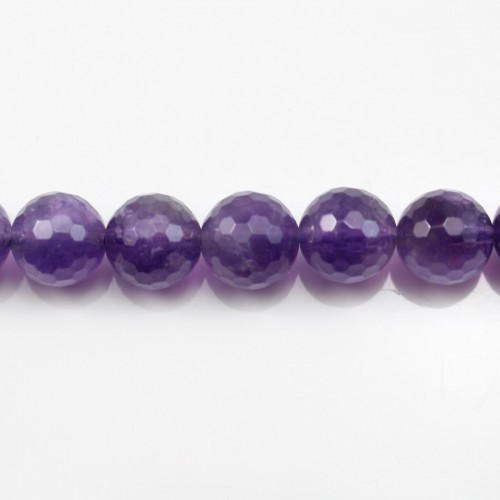 Amethyst Faceted Round 10mm x 40cm