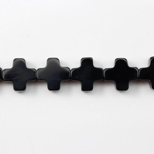 Agate Noire Trèfle 8mm