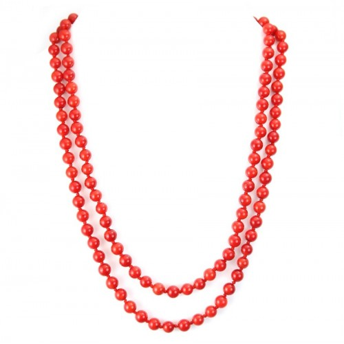 Red Tinted Bamboo Sea Necklace Ombeline