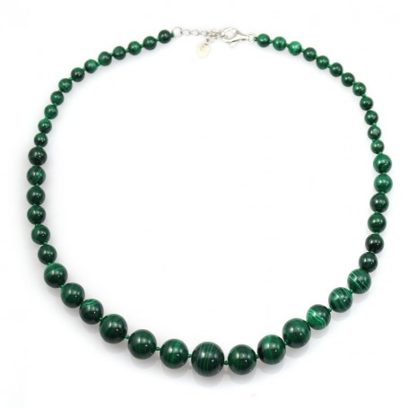necklace round subdued malachite green