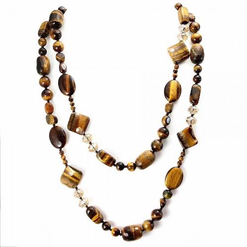 eye tiger Crystal Necklace