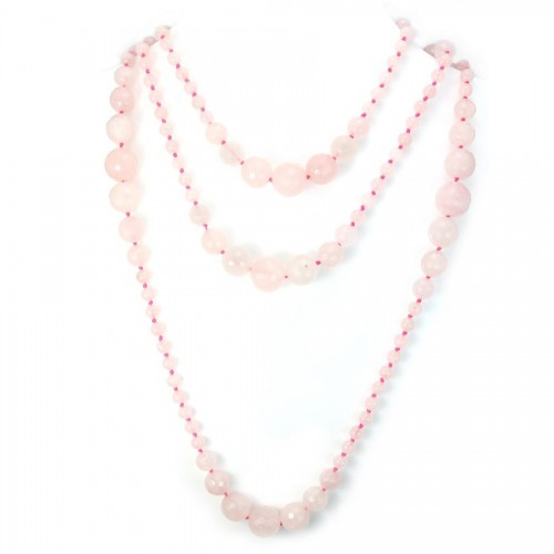 Necklace quartez rose 140cm