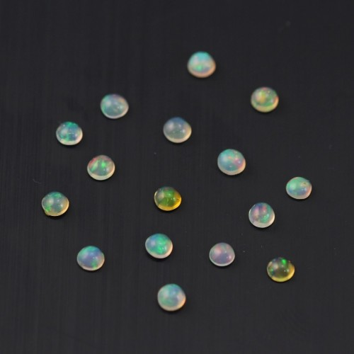 Cabochon opal ethiopian round 2.7mm - 3mm x 1pc