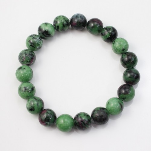 Bracelet Samara Ruby Zoisite Round Ball 10 MM