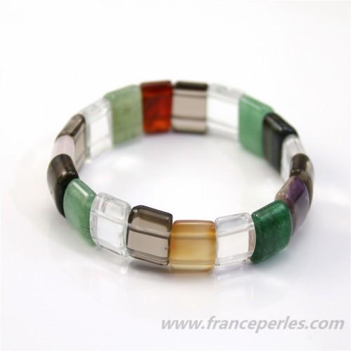 Bracelet Flat Mix  Stone