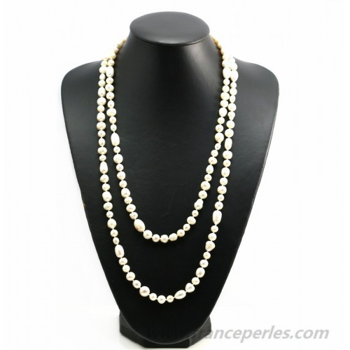 Necklace freshwater pearl 140cm