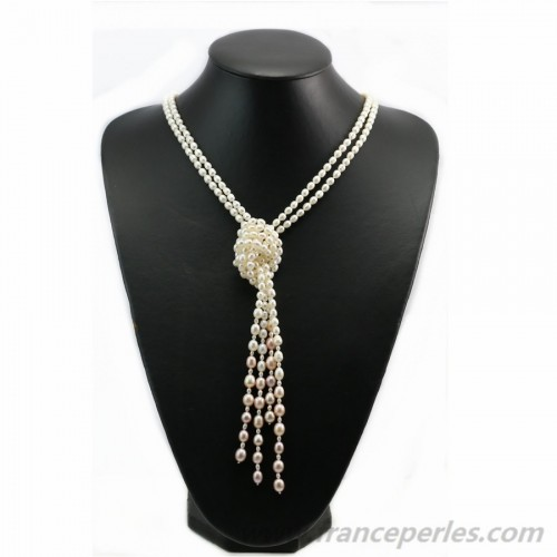 White free style freshwater pearls nacklace 120cm