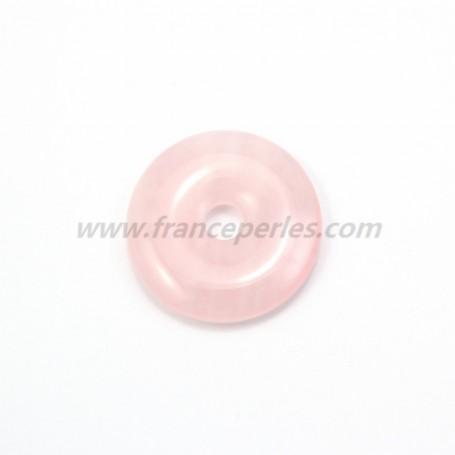 Rose quartz donut 30mm*6mm*4.8mm
