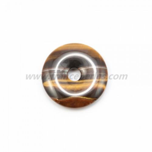 Donut oeil de tigre 30mm*6mm*4.8mm