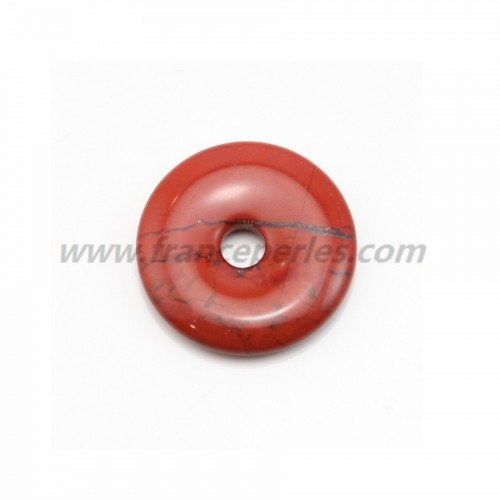 Dount jaspe rouge 30mm*6mm*4.8mm